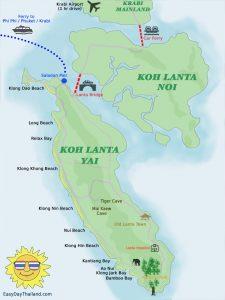 Map of Koh Lanta Thailand