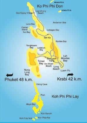 Map of Koh Phi Phi Island