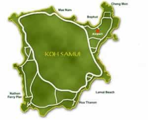 Koh Samui Island Map