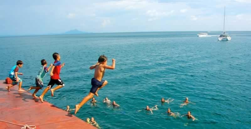 Krabi Sunset cruise - Kids having fun