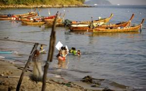 Chao Ley Longtail Boats - Thailand Sea Gypsies at Rawai Beach, Phuket Island