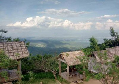 Chiang Mai, Mon Cham - viewpoint with wooden pavillion