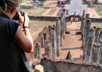Si Satchanalai, historical park - khmer temple top view
