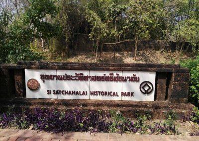 Si Satchanalai, historical park- sign