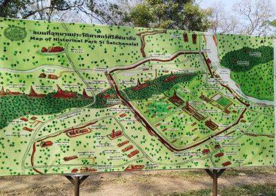 Si Satchanalai, historical park- map