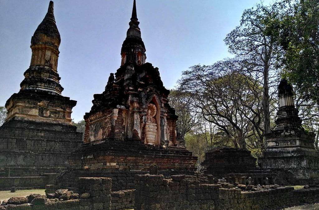Si Satchanalai, historical park - wat suan kaeo uttayan yai with buddha statue