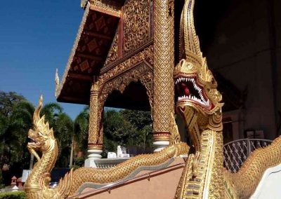chiang mai, wat phra singh - entry backside