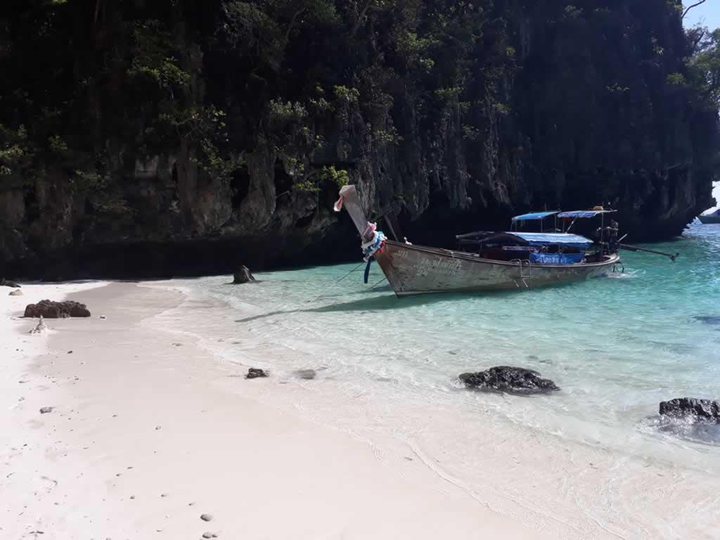 Longtail at Pileh Lagoon Phi Phi Island