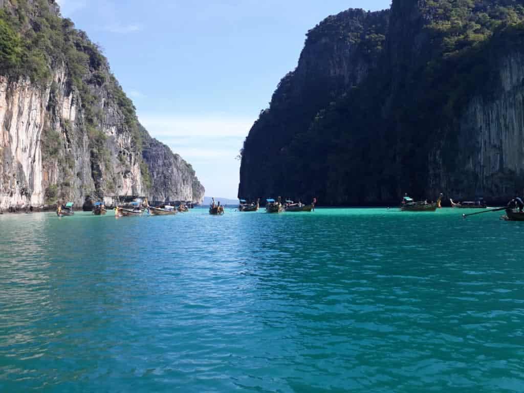 Longtails at Pileh Lagoon - Phi Phi Island