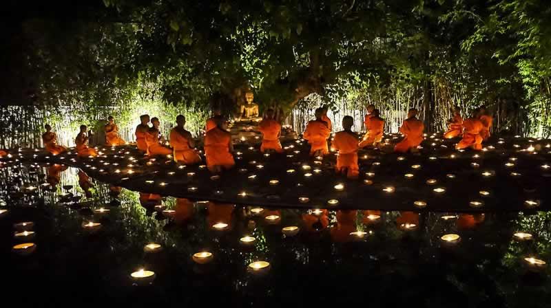 Visakha Bucha - Thailand Buddhist rituals