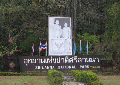 Sri Lanna National park Entrance