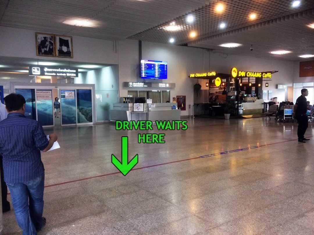 Krabi Airport - Domestic Arrivals meeting point