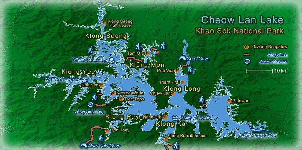 Khao Sok National Park Map