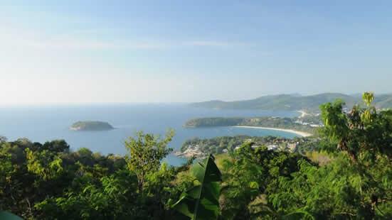 L'île de Phuket, pelre de la mer d'Andaman, en Thaïlande